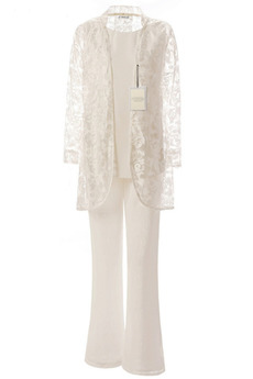 Robe mères Vintage Un Costume Haute Couvert Col U Profond Poire
