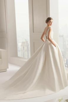 Robe de mariage Naturel taille Tribunal train Salle Manquant