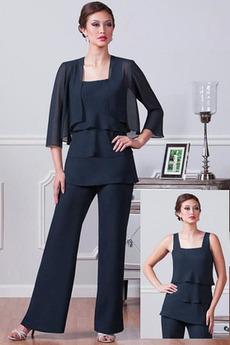 Robe mères Un Costume Chiffon Été Haute Couvert Gradins Elégant