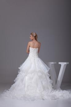 Robe de mariée Dos nu Satin Traîne Moyenne Elégant Multi Couche