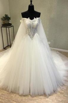 Robe de mariée Manche Longue Tulle Basque a ligne Laçage Plage