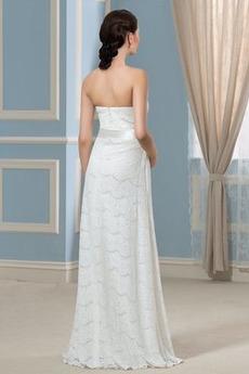 Robe de mariée Dentelle Empire Longueur de plancher Dos nu haut bustier tube