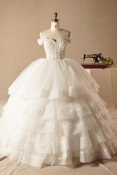 Robe de mariée aligne Eglise Formelle Gradins Automne Fermeture éclair