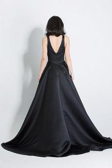 Robe de soirée Sans Manches Cérémonial Drapé Fermeture à glissière