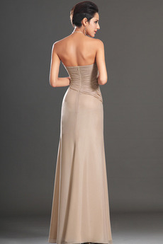 Robe de soirée Luxueux Longueur de plancher Rose Sans Manches