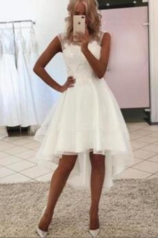 Robe de mariée Asymétrique Manquant Naturel taille Asymétrique