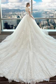 Robe de mariée Tulle A-ligne Lacez vers le haut Orné de Rosette