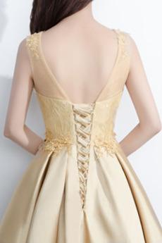 Robe de cocktail Petit collier circulaire Glamour Laçage Perler