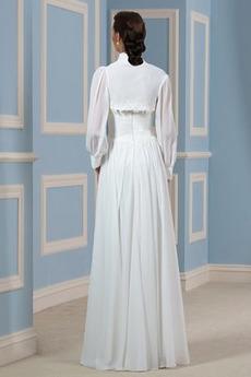Robe de mariage Plage Fourreau plissé Balançoire Décalcomanie