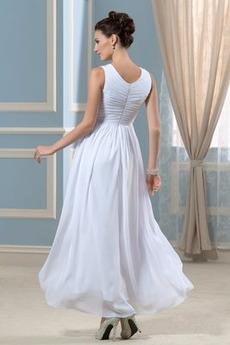 Robe de mariage Fermeture à glissière noble Jardin Sans Manches