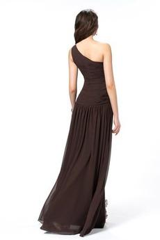 Robe de soirée Fourchure Frontale Sexy Longueur Cheville Ample & Ornée