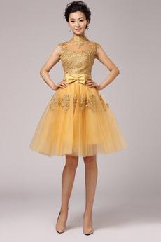 Robe de bal Dentelle Balançoire Glamour Longueur de genou aligne