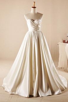 Robe de mariée Longue Naturel taille Dos nu Automne Formelle