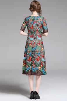 Robe de soirée Luxueux A-ligne Printemps Fête Longueur de genou
