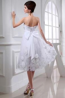 Robe de mariée Elégant Décolleté Dans le Dos De plein air Longueur de genou