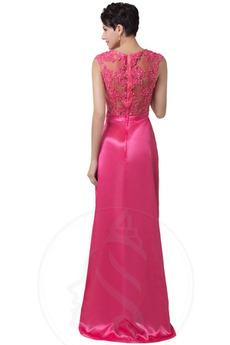 Robe de bal Glissière Perler Naturel taille Glamour Asymétrique