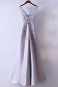 Robe de demoiselle d'honneur Luxueux Festin Sans Manches Dos nu
