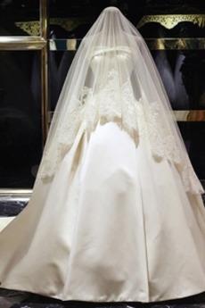 Robe de mariée Dos nu Sans courroies Satin crêper Printemps Sans Manches