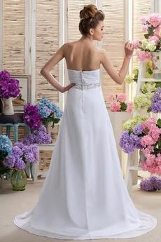 Robe de mariée Mousseline taille haute Médium Longueur de plancher