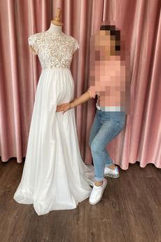 Robe de mariée Appliquer Simple Mousseline De plein air À la masse