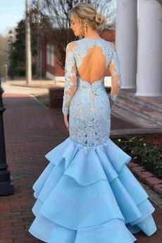 Robe de bal Sirène Satin Exquisite Automne Festin Manche Longue