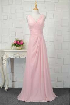 Robe de demoiselle d'honneur Rose Naturel taille Automne Fermeture éclair