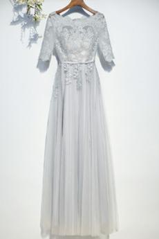 Robe de demoiselle d'honneur Manche Aérienne Festin Vintage Gaze