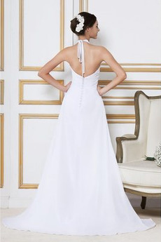 Robe de mariée Grossesse De plein air Perler Taille haute Traîne Courte