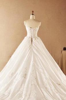Robe de mariée Automne Formelle Perler Naturel taille Sans Manches