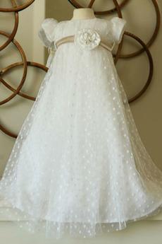 Robe de fille de fleur Cérémonie taille haute Princesse Tulle