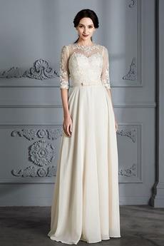 Robe de mariée Naturel taille Longueur de plancher Printemps