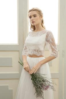 Robe de mariée Sexy Petit collier circulaire Plage a ligne Été