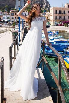 Robe de mariée Naturel taille Chiffon Automne Sans Manches Longue