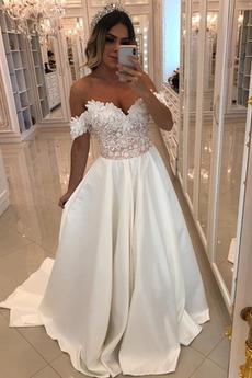 Robe de mariée Formelle Longue Mancheron Naturel taille Sans Manches