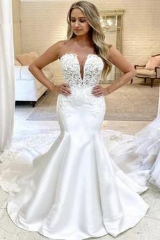 Robe de mariage Sans courroies Éternel Décalcomanie Naturel taille