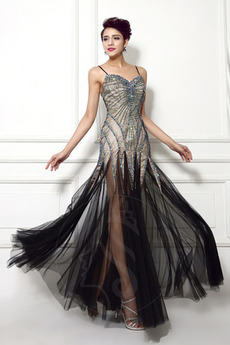 Robe de bal Dos nu Tulle Perler aligne Traîne Courte Luxueux