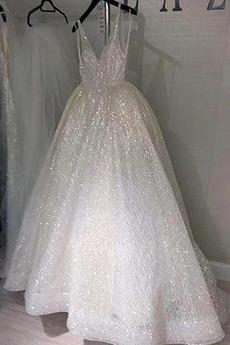 Robe de mariée Dos nu Sans Manches Drapé A-ligne Longueur Cheville