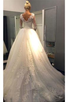Robe de mariée Princesse Dentelle Fermeture à glissière Manche Aérienne