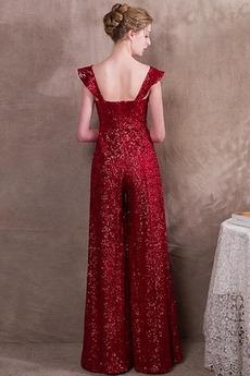 Robe de soirée Paillettes Longueur Cheville Un Costume Printemps