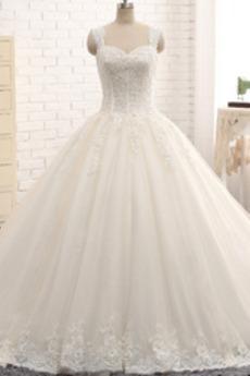 Robe de mariée Longue Chaussez Automne Salle des fêtes Sans Manches