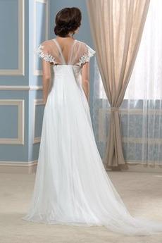 Robe de mariage Longueur au sol Plus la taille Été Rivage Chic