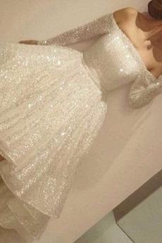 Robe de mariée Asymétrique Asymétrique Rosée épaule Scintillait