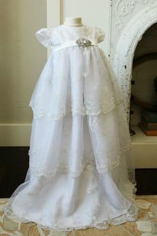 Robe de fille de fleur Princesse Longue Dentelle Bébé Lanterne
