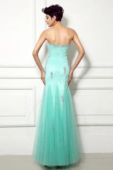 Robe de soirée Sirène Perle col coeur Elégant net Fermeture à glissière