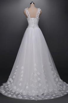 Robe de mariée Fourreau pli Naturel taille Luxueux Tulle Plage