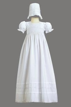 Robe de fille de fleur Cérémonie Naturel taille Exquisite Fermeture à glissière