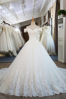 Robe de mariée Mancheron Formelle Eglise Perles net a ligne
