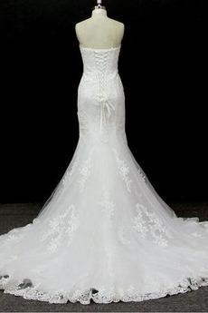 Robe de mariée Vintage Salle des fêtes Traîne Mi-longue Tulle
