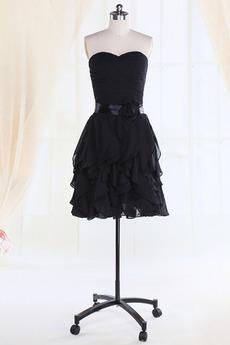 Robe de demoiselle d'honneur Fourreau plissé Taille chute Sablier