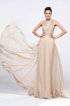 Robe de soirée Montrer Été Sans Manches Luxueux Corsage Avec Bijoux